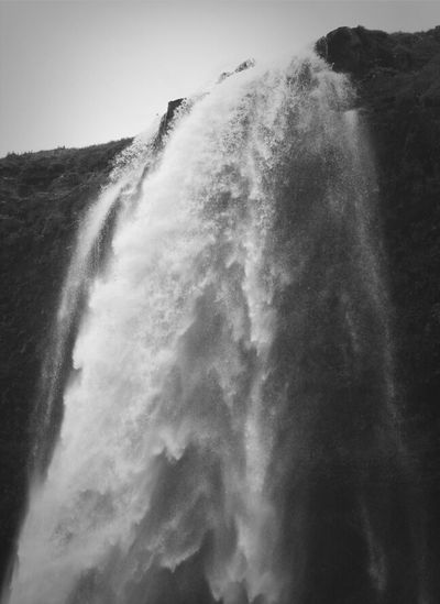 Water Waterfall Water Droplets Iceland
