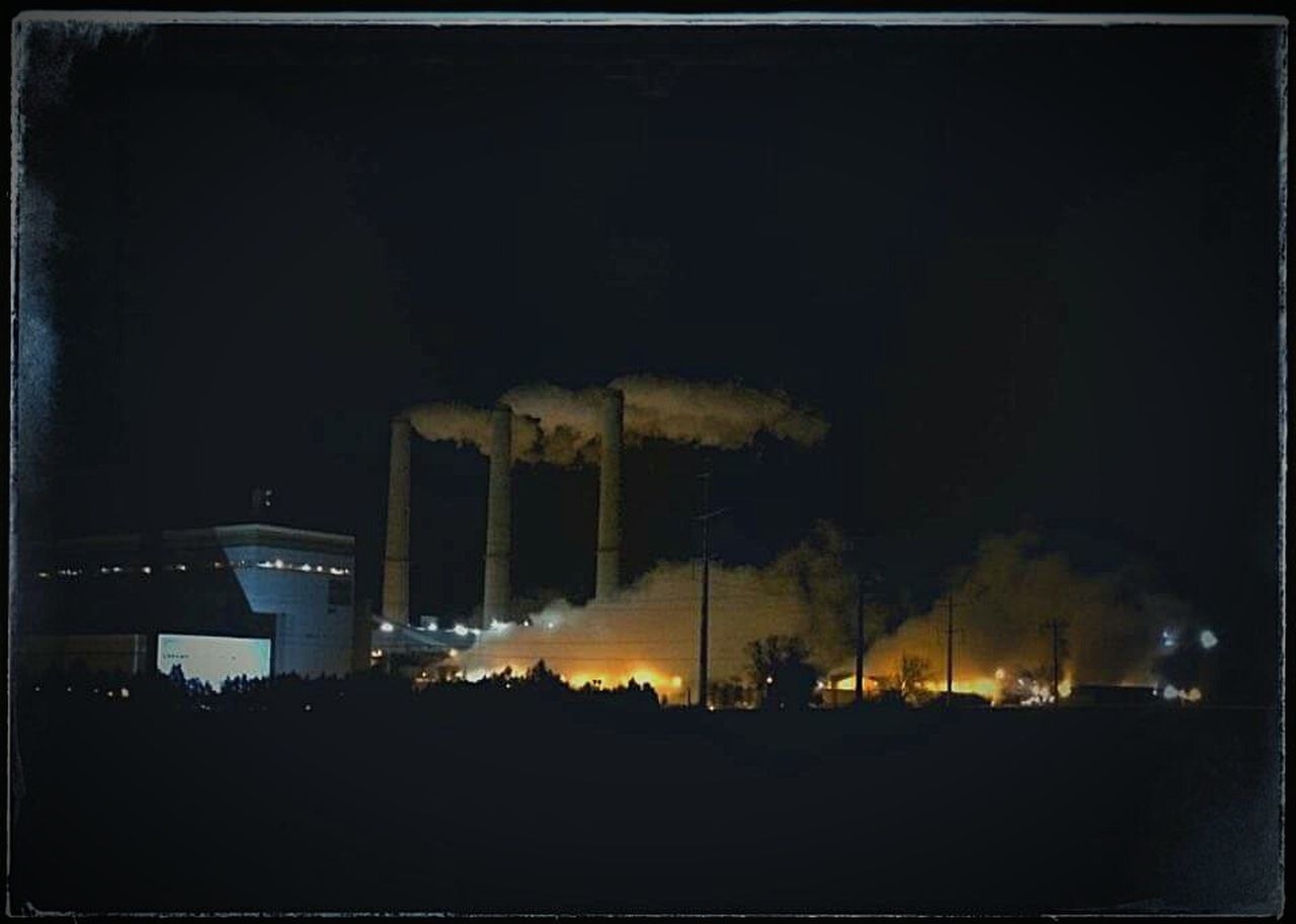 Power Plant, Coal Powered, Winter, Steam, Eyeem Check This Out