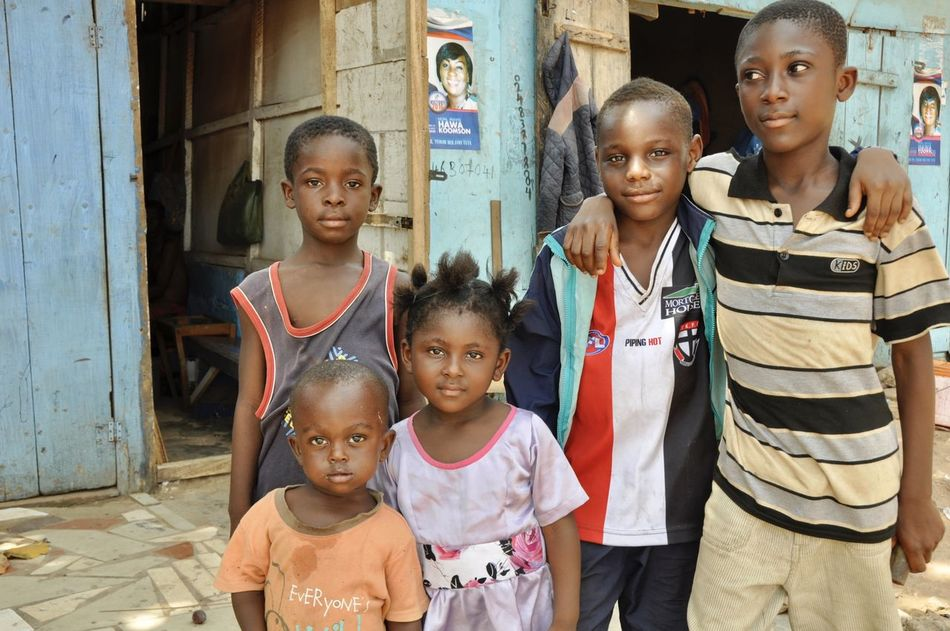 Buddies. African Bonding Boys Buddies Child Childhood Children Children Only Elementary Age Friend Friends Friendship Ghana Girls Kids Lifestyles Looking At Camera People Portrait Real People Standing Togetherness