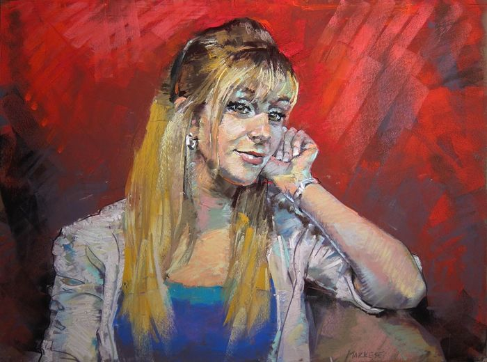 Heather. Soft pastels. Art Drawing Portrait Beauty