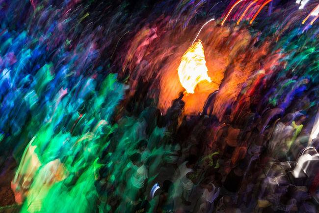 Full Moon Party on Ko Phangan island. Abstract Beach Beach Party Burning Rope Fire Flowing Full Moon Full Moon Party Haad Rin Heat - Temperature Horizontal Island Islandlife Jumping Koh Phangan KohPhangan Multi Colored Night Outdoors Party Phangan Textured  Thailand Tourism Tourists First Eyeem Photo