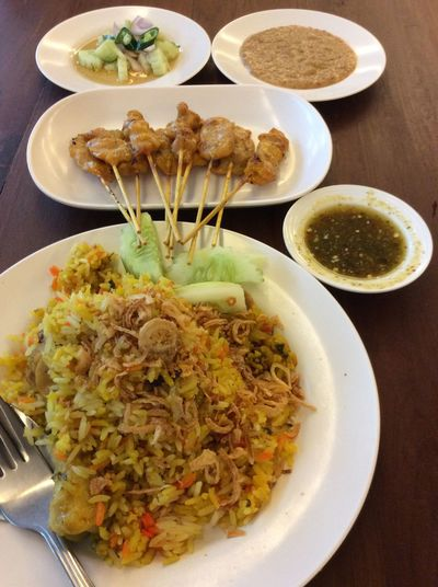 My World Of Food Muslim Food Thaistyle Onthetable Chickens Satay Tasty Delicious NoEditNoFilter