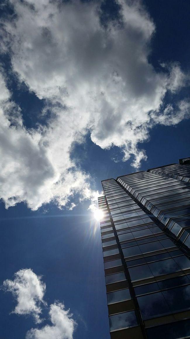 Sky from city plaza