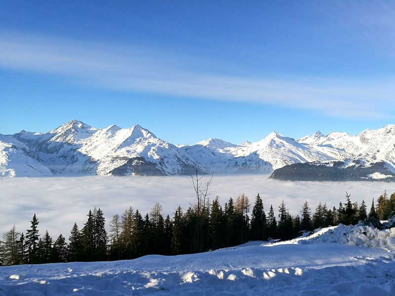 Mountain Snow Above The Clouds Snowcapped Mountain TheAlps TheWeekOnEyeEM