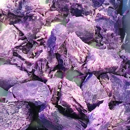 Taro Root Taro Albinic Vegetables Healthy Food Purple Skin Sweet