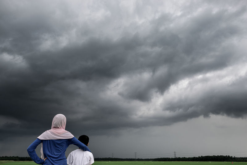 Storm approaching Dark Clouds Heavy Clouds Paddy Field Storm Cloud Stormy Weather Togetherness Tropical Storm Waiting For The Storm Long Goodbye Resist Live For The Story
