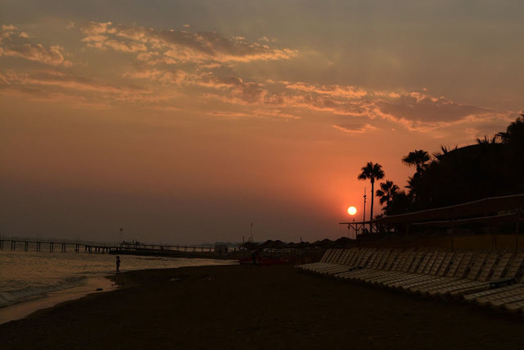Sunset Travel Destinations Outdoors Sea Beauty In Nature Sky Beach Cloud - Sky Nature Vacations Turkeyphotooftheday Turkinstagram Türkiye 💙💛 Turkey💕 Alanya Antalya Alanya Türkiye Konaklı