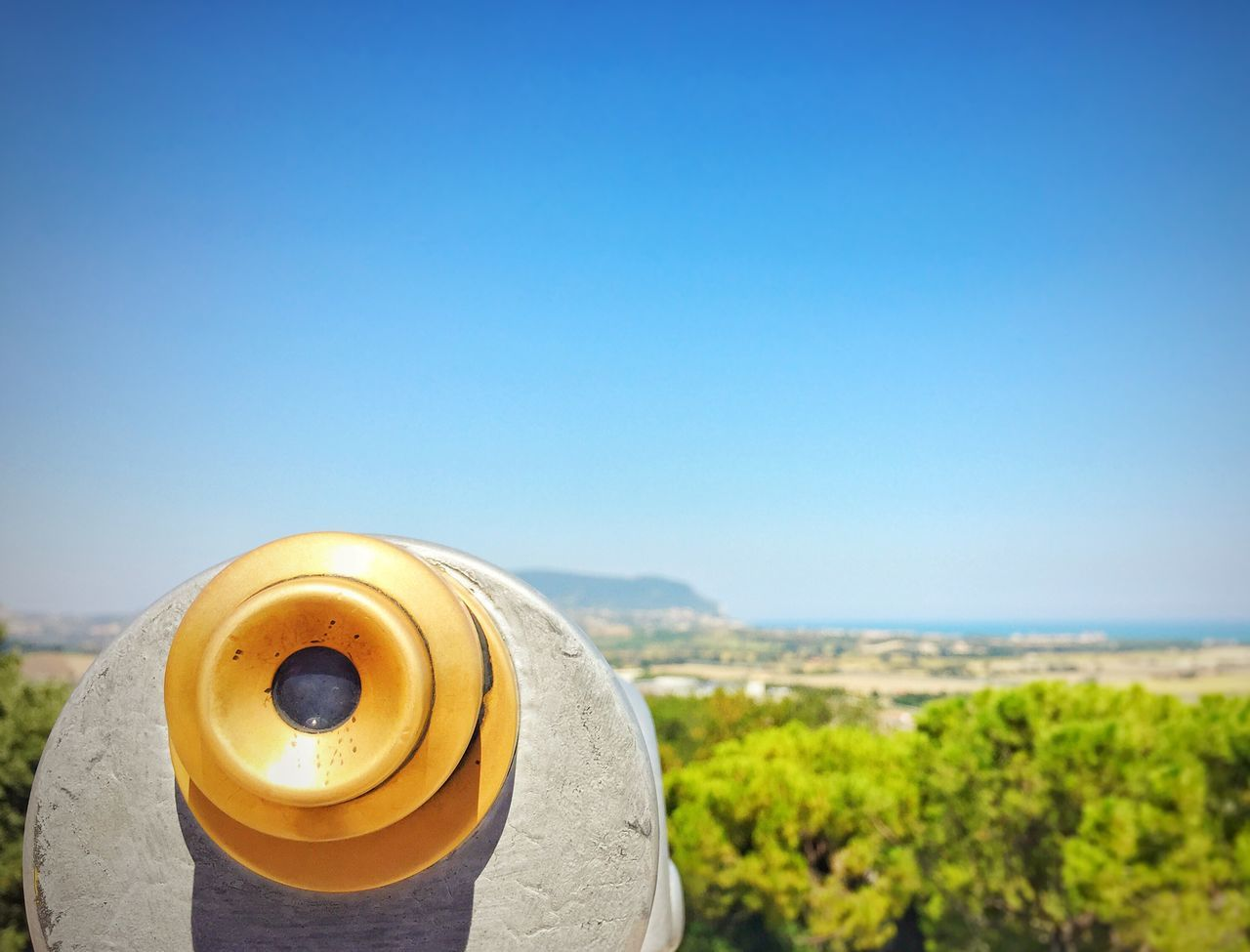 Coin-operated Binoculars Coin Operated Clear Sky Copy Space Blue Close-up Binoculars Focus On Foreground Outdoors Day Exploration Tranquility Scenics Tourism Beauty In Nature High Section Global Communications Telescope Mount Conero Conero Italy Tourism Italy Adriatic Sea Adriatic Coast