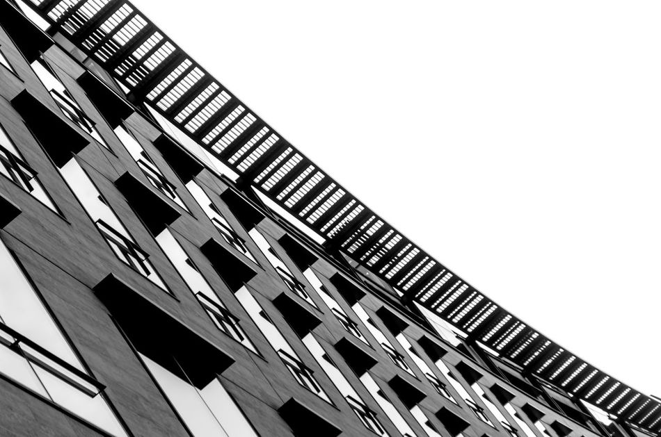 Low Angle View Built Structure Architecture Building Exterior Looking Up Lookingup Office Building Blackandwhite PhotographyArchitectural Monochromatic Bnw Black & White Contrast London