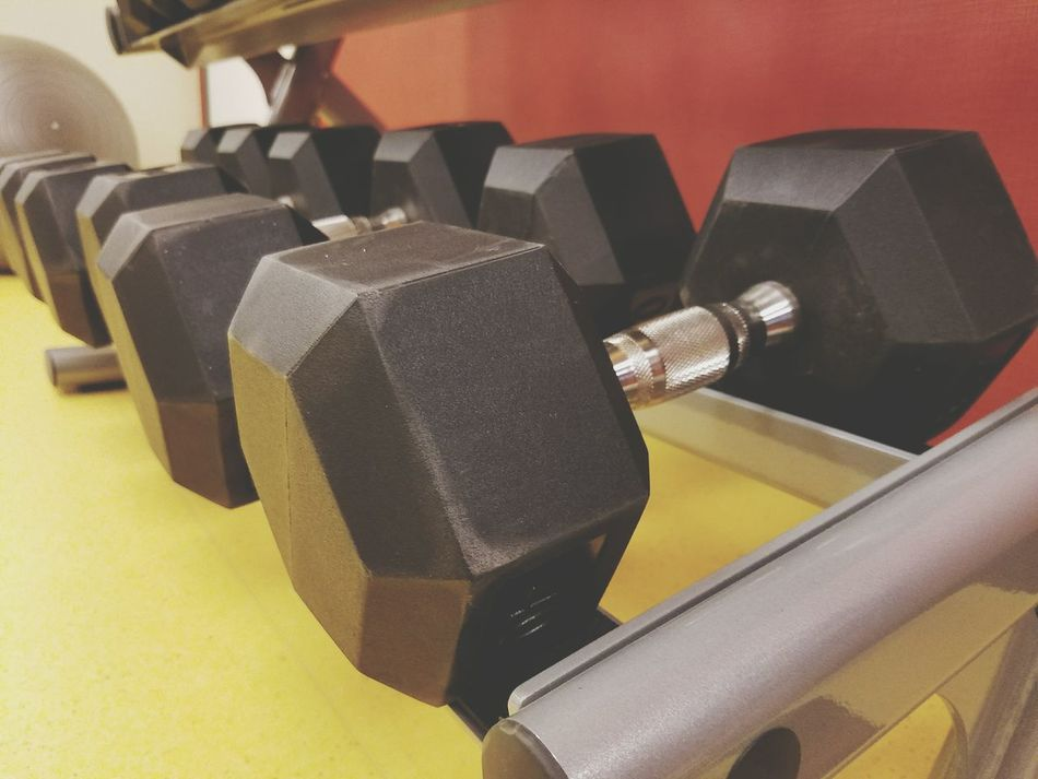Gym Time Weights Dumbbells Close-up Indoors  No People Exercise Equipment Hello World New Mexico, USA Samsung Galaxy S7 Edge Hotel Taking Photos Carlsbad, Nm