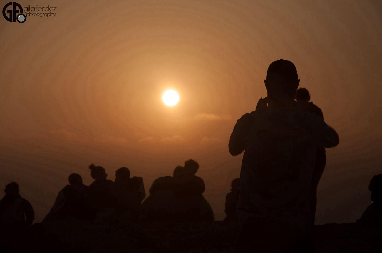 Sunset Silhouette Landscape Sky