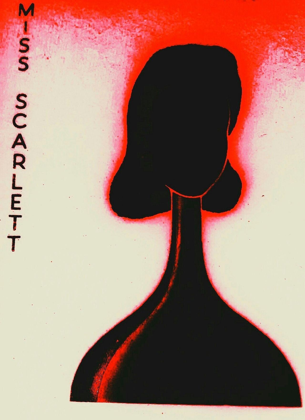 Scarlett Missscarlett Femmefatale Noir Clue Cluedo