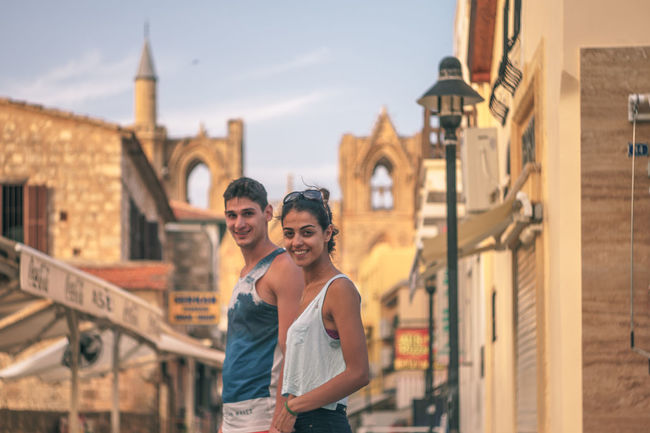 Adults Only Carefree City Break Cyprus Famagusta Gazimağusa Happiness Heterosexual Couple History Love Outdoors Sharing  Smiling Summertime Sundown Suriçi Togetherness Tourism Tourist Travel Travel Destinations Two People Vacations Young Adult Young Women