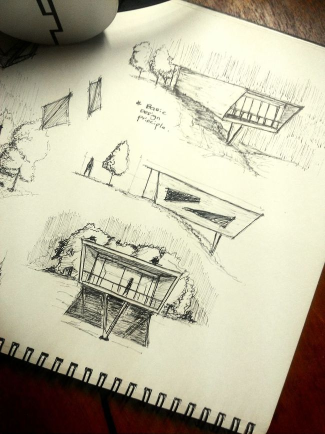 Artline Sketch Architecture hobby as a architecture student Enjoying Life
