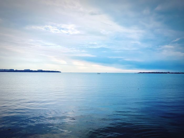 Beauty In Nature Day Cloud - Sky Sea Water Sky Outdoors Horizon Over Water Blue No People