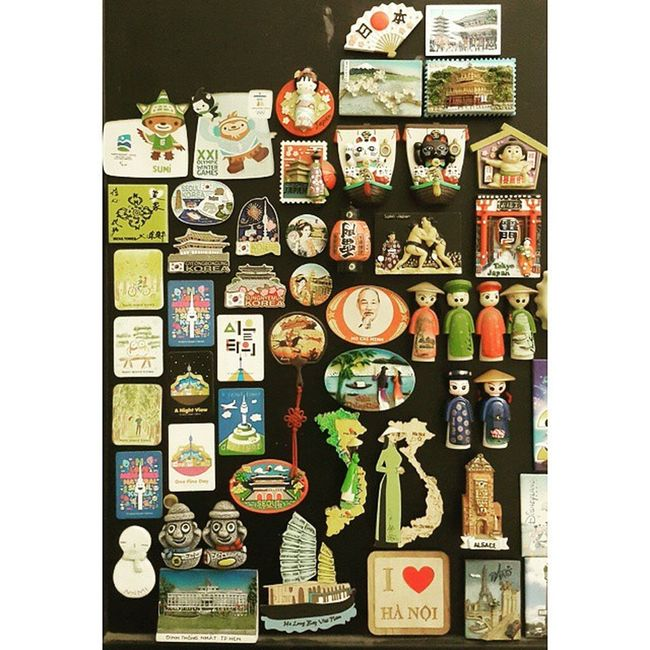 Magnet collections of Vietnam, Japan, Korea PrivateCollections PersonalCollections Collections Travelmania Travelers Hanoi halongbay hochiminh Vietnam tokyo kyoto Japan seoul nami Korea
