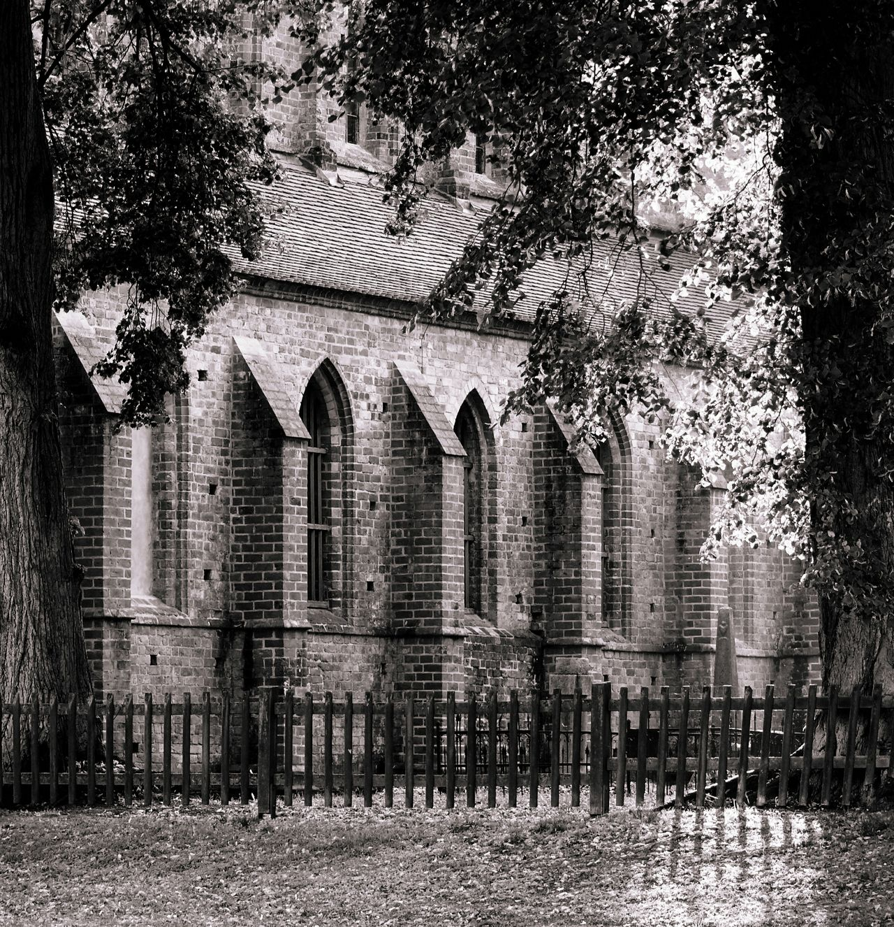Architecture Building Chorin Church Fall Beauty Fence Germany Mirrorless No People Old