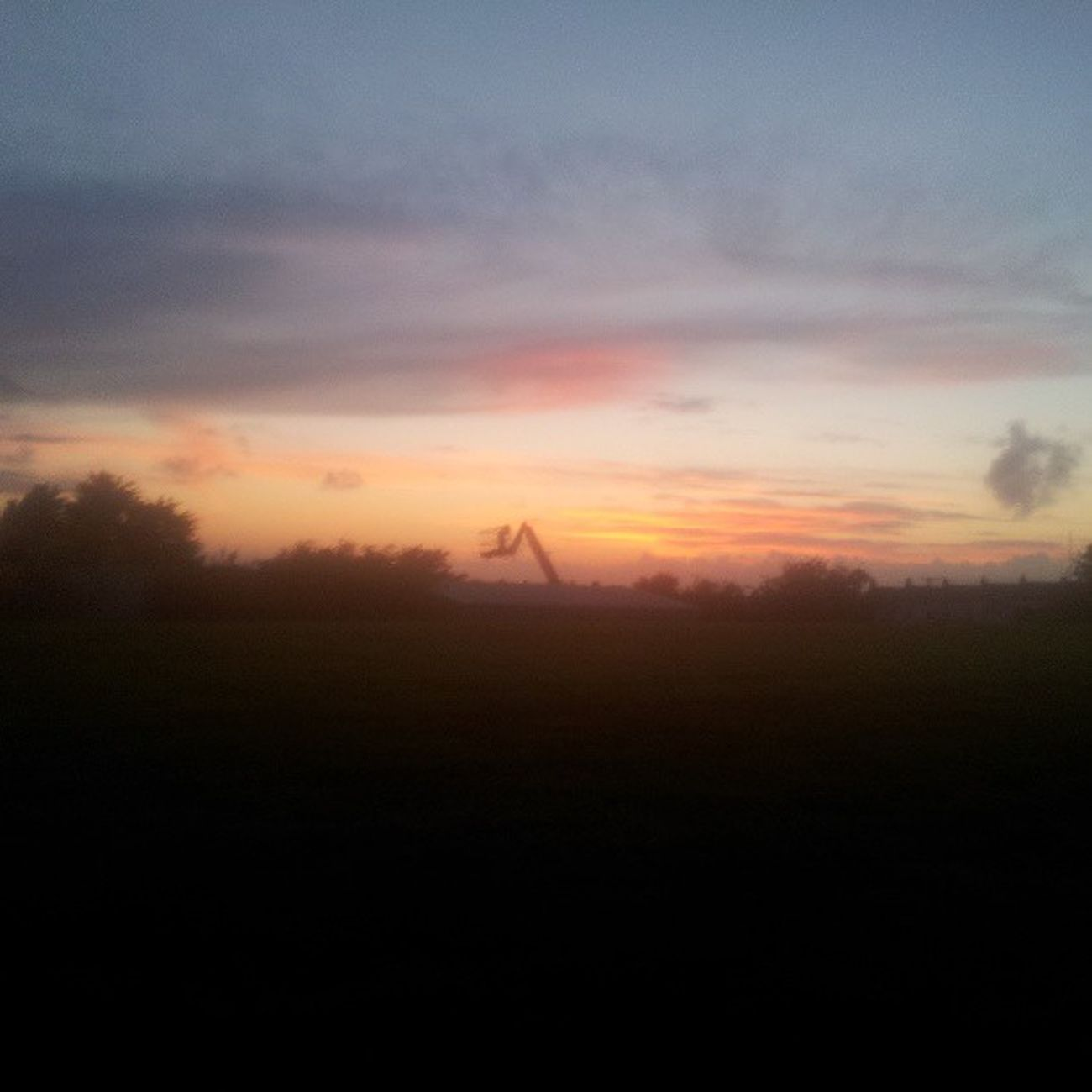 Sunset Sunsets Silohette RedSky crane blue nice pretty