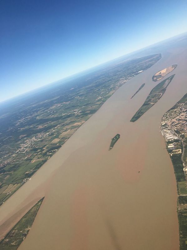 Aerial View Airplane Beauty In Nature Day Flying France Nature Sky Tourism Water