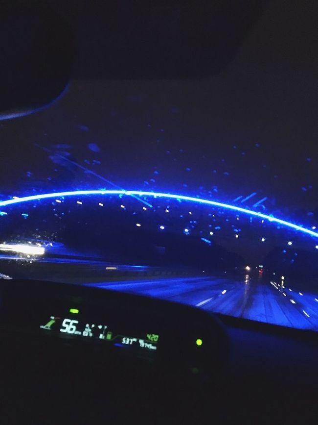 Illuminated Blue Transportation Night Dark Sound Mixer Airport Runway Journey Multi Colored Aerial View