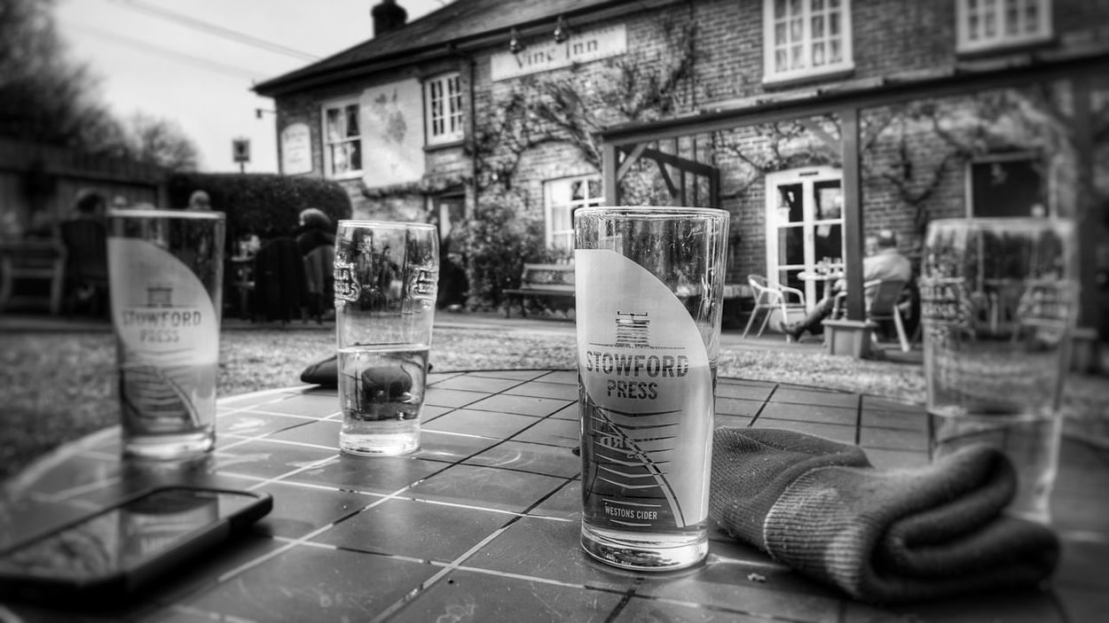 Stopping for a pint Cider Dorset Olde Worlde Hanging Out Black & White Beer Old Bastards