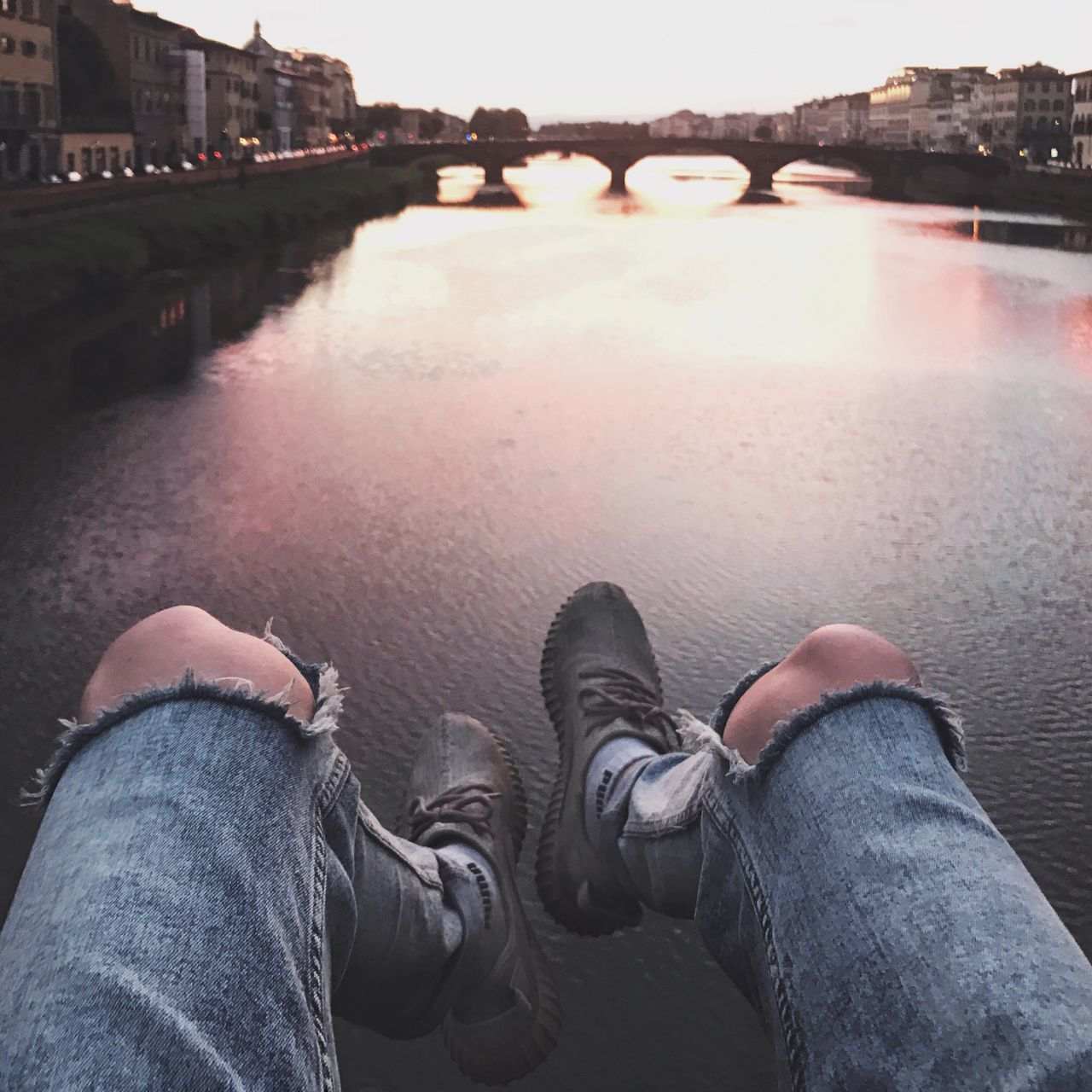 florentine sunsets. Sunset Sunset_collection Florence Firenze Italy Italia Yeezy River Perspective Lifestyle