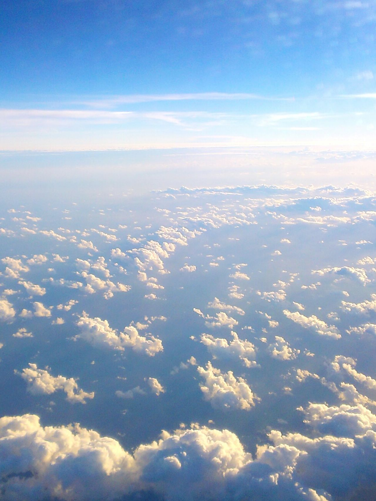 Day Scenics Tranquility Sunlight Cloudscape Cloud - Sky Sky Aerial View No People Clouds And Sky Clouds Mobile Photography
