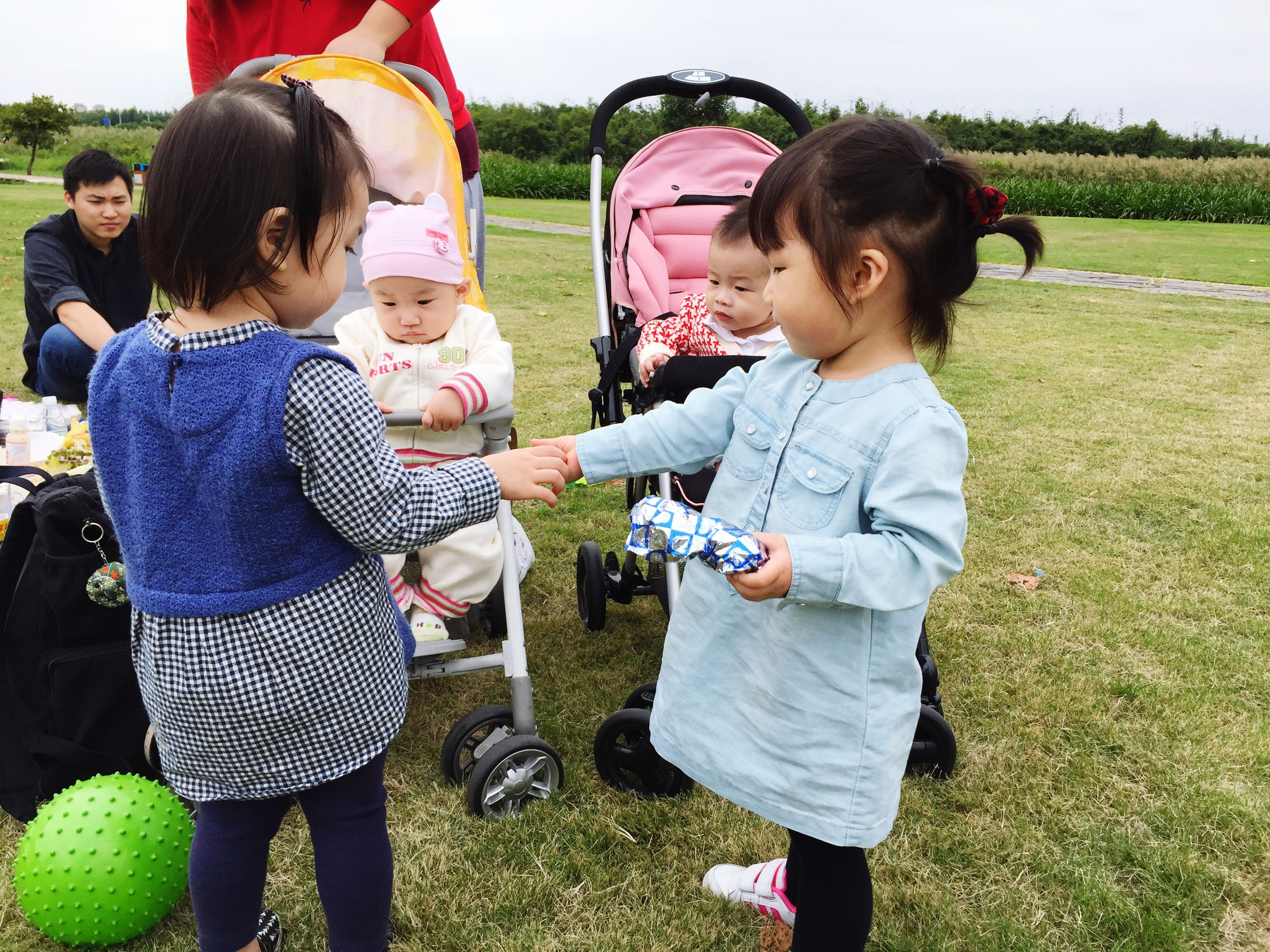 childhood, casual clothing, elementary age, boys, person, lifestyles, togetherness, bonding, grass, leisure activity, girls, cute, love, innocence, full length, three quarter length, happiness