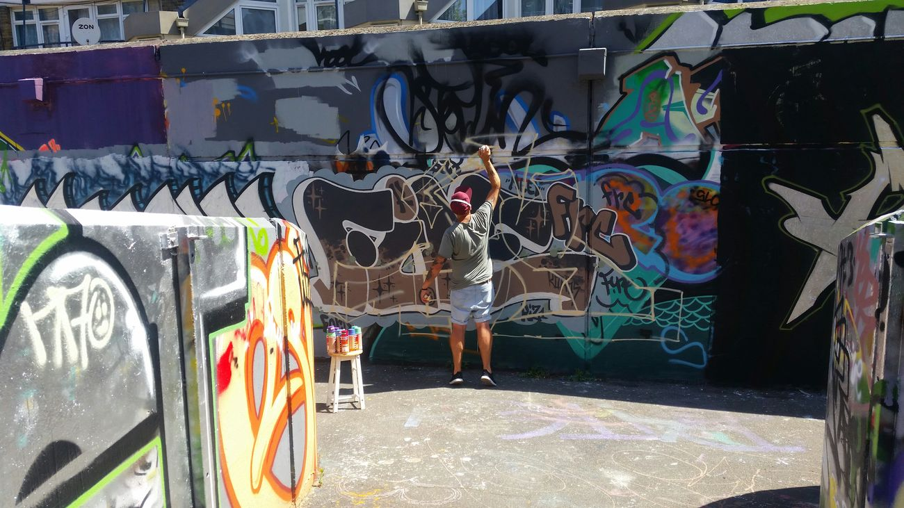 Urban Art Graffiti Wall Graffiti Writers Taking Photos Hanging Out Listening To Music Expressing Through Art Street Photography Love Art Summers Day