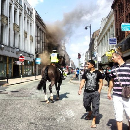 Manchester Blaze Paulshairworld Fire OldhamStreet