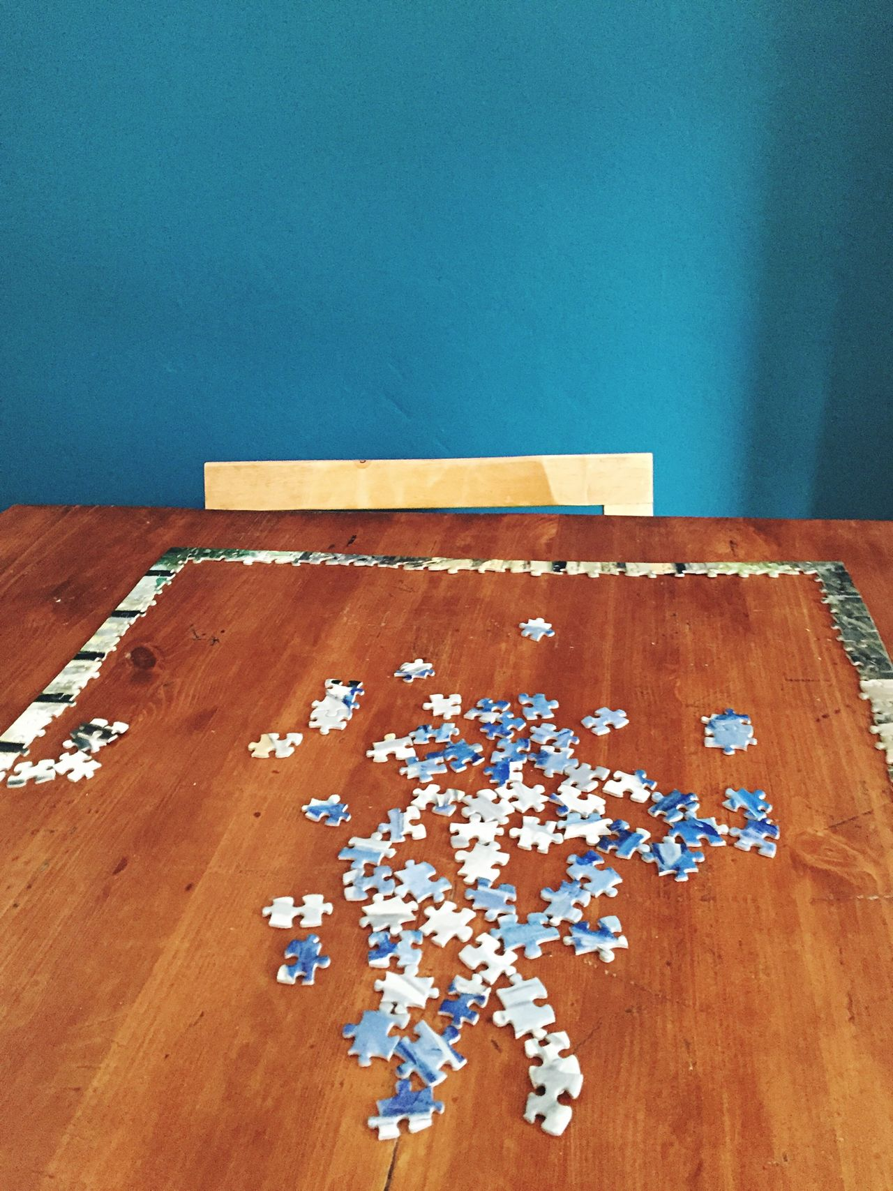 Beautiful stock photos of puzzle, Absence, High Angle View, Indoors, Jigsaw Piece
