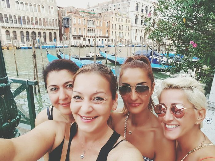 Canale Grande People People Together Friendship And Me Hello World Enjoying Life Enjoying The Sights Lifestyles Life Capture The Moment Selfi Popular Style Outdoors Summer Views Streets Of Venice Landscapes Streetphotography Original Experiences Friends Girls Women Style Woman Power