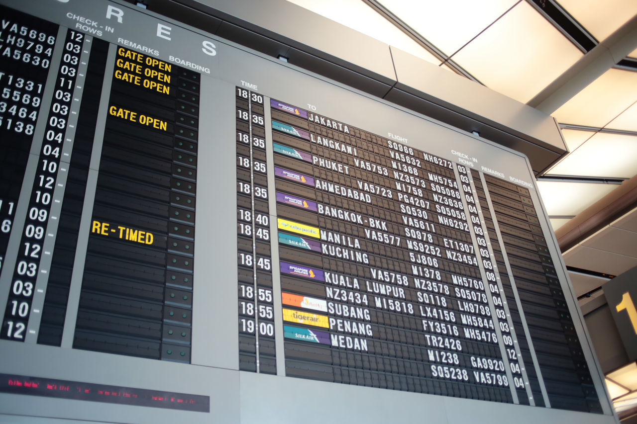 Waiting Airport Arrival Departure Board Checking In Communication Data Departure Indoors  Information Medium Low Angle View Technology Traveling Home For The Holidays