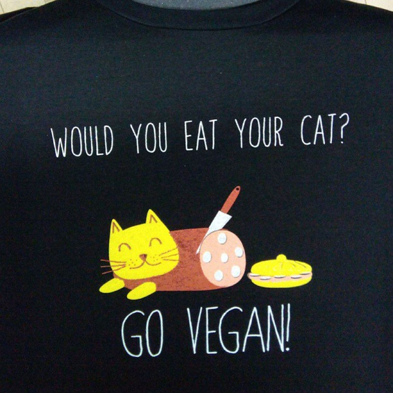 Available at #vegfestuk #london this weekend. #vegantshirts #vegan #cat Cat London Vegan Vegantshirts Vegfestuk Vegfestlondon