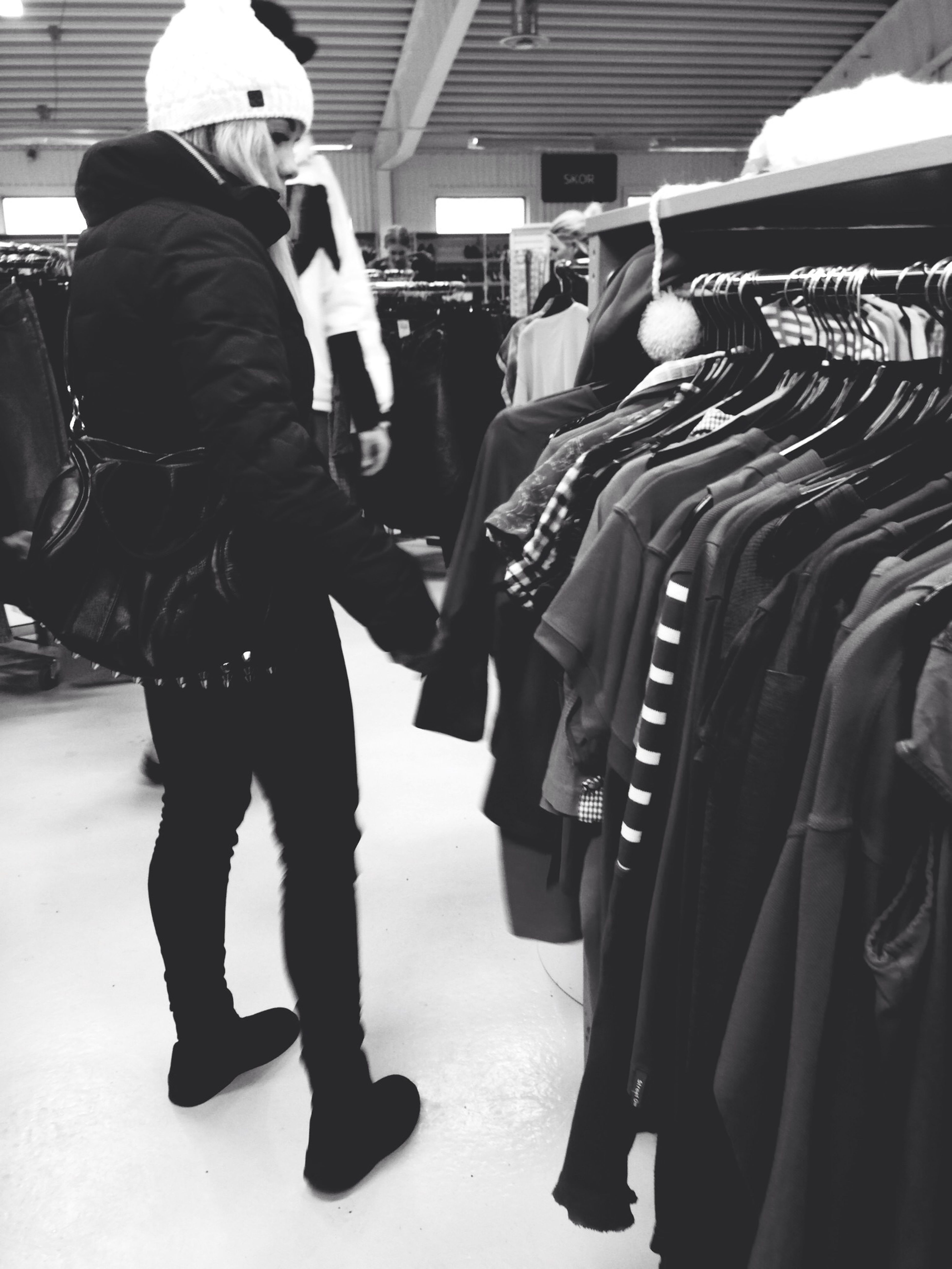 Second hand shopping with Malin.