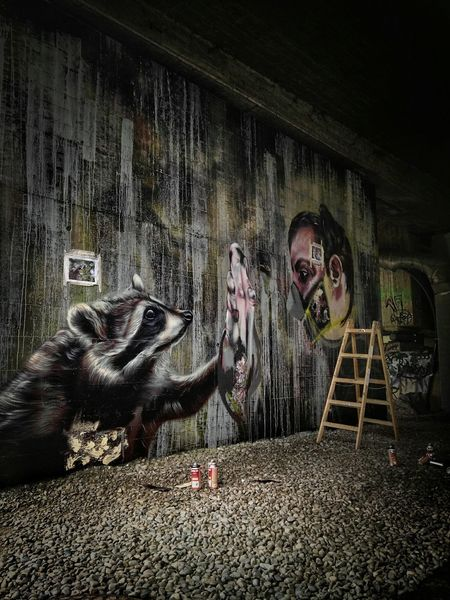 Graffiti Mural News from ALBINO_ONE, in Bregenz Under The Bridge Freewall Graffiti Wall !!, Check out the comments: 2Hände