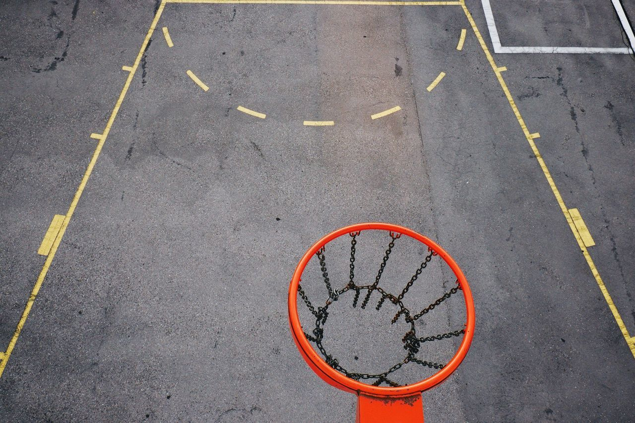 Beautiful stock photos of basketball, Basketball, Basketball Hoop, Chain, Court
