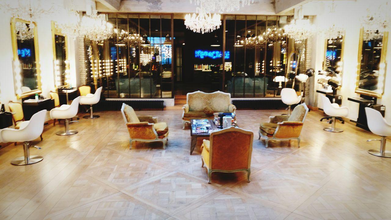 Luxury Business Finance And Industry Indoors  Illuminated No People Hairsalon Hair Salon Hairstylist Paris, France