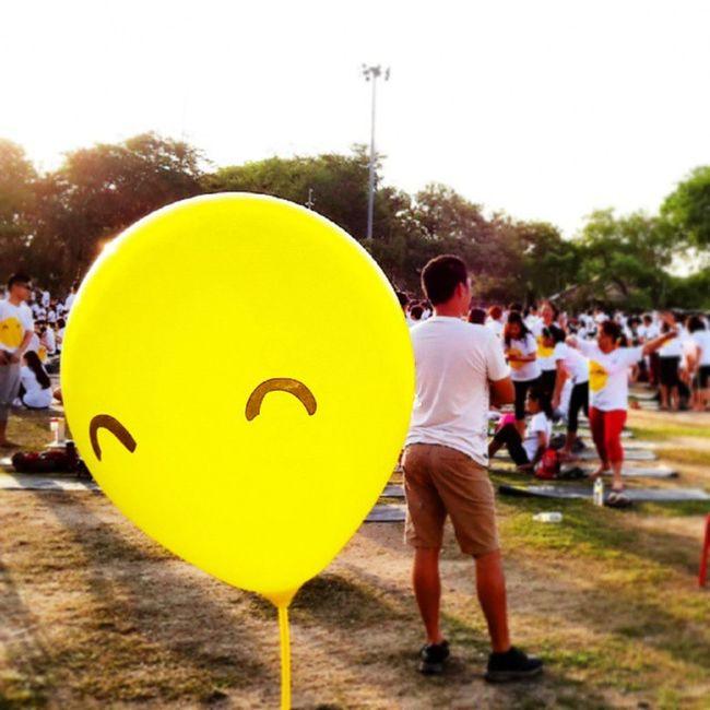 Smile, it's free therapy. 10ksmilesyoga Yoga Enjoy Life bigsmiles smiles love yellow balloon joyful malaysia asian colourful vscocam instagram beauty sunshine quote therapy motivate Happy @daroyce