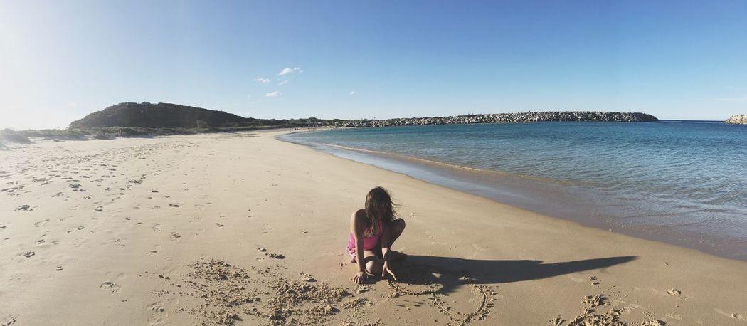 Winter Beach Sand Sea Rear View Shore Scenics Real People