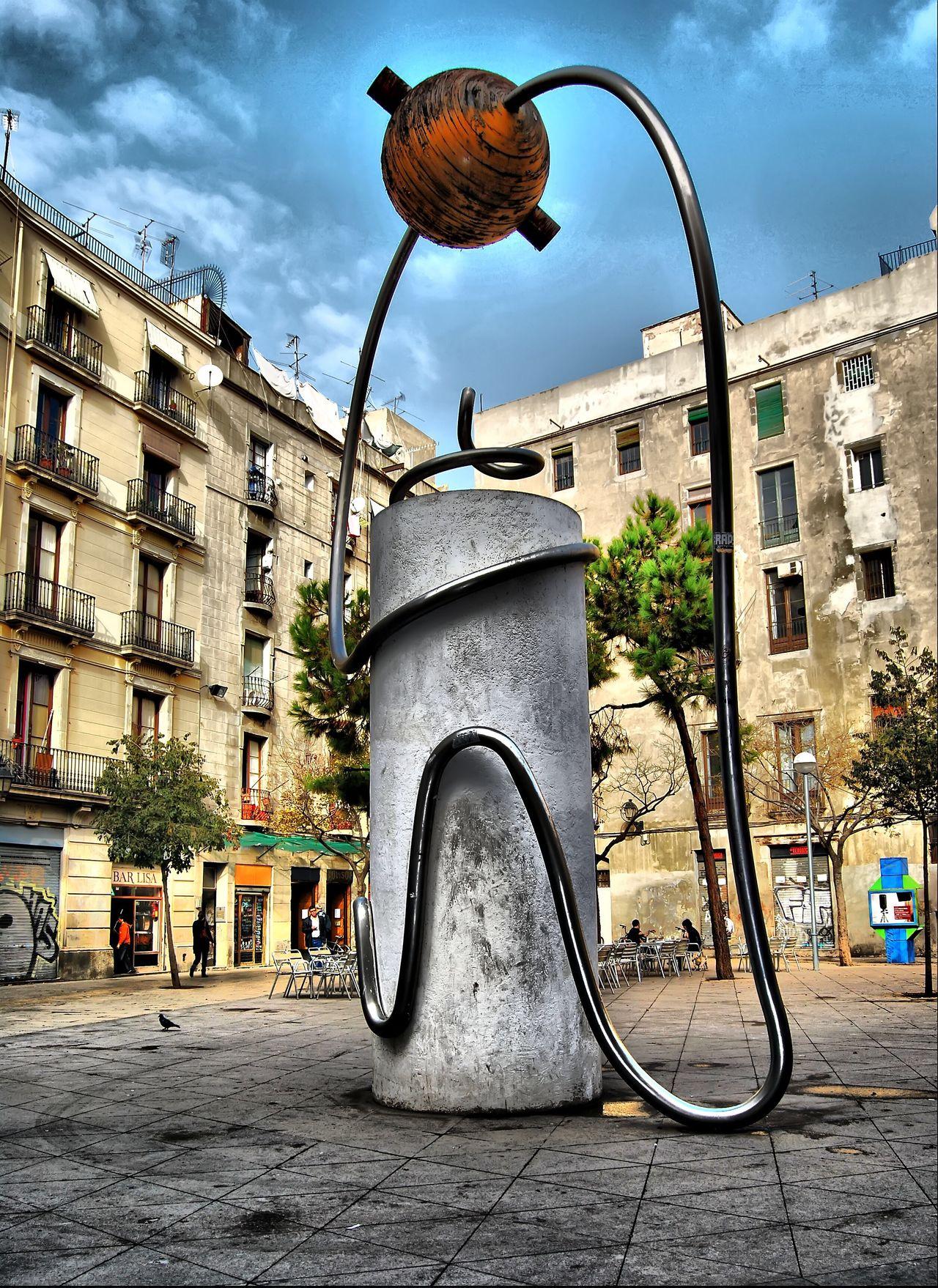 Plaçageorgeorwell Plaza George Orwell Barcelona Georgia Orwell Barcelona Monument Monuments Sculpture HDR
