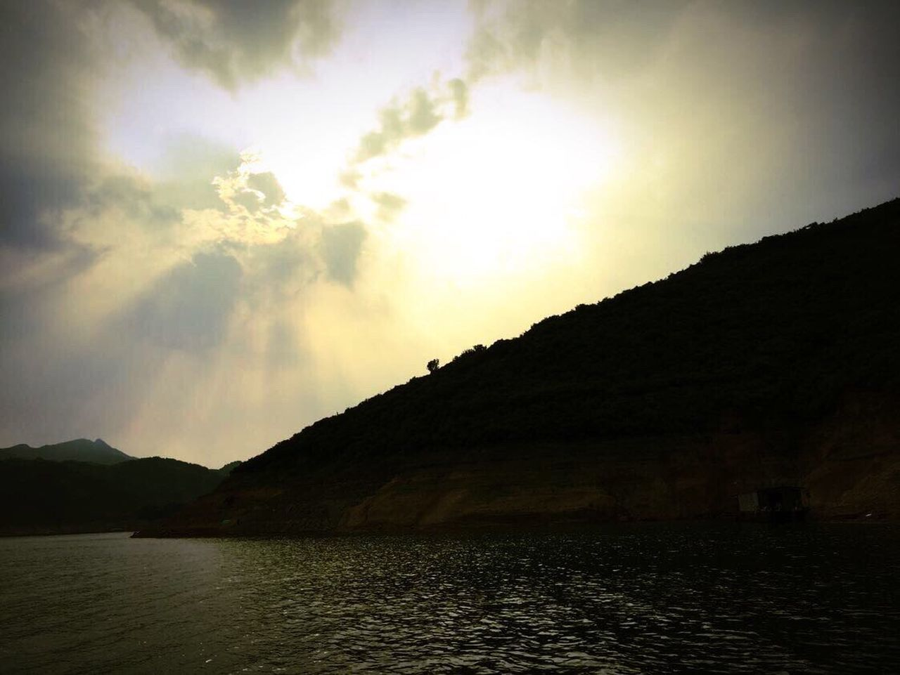 nature, tranquility, sky, scenics, beauty in nature, no people, mountain, tranquil scene, outdoors, water, cloud - sky, sea, day