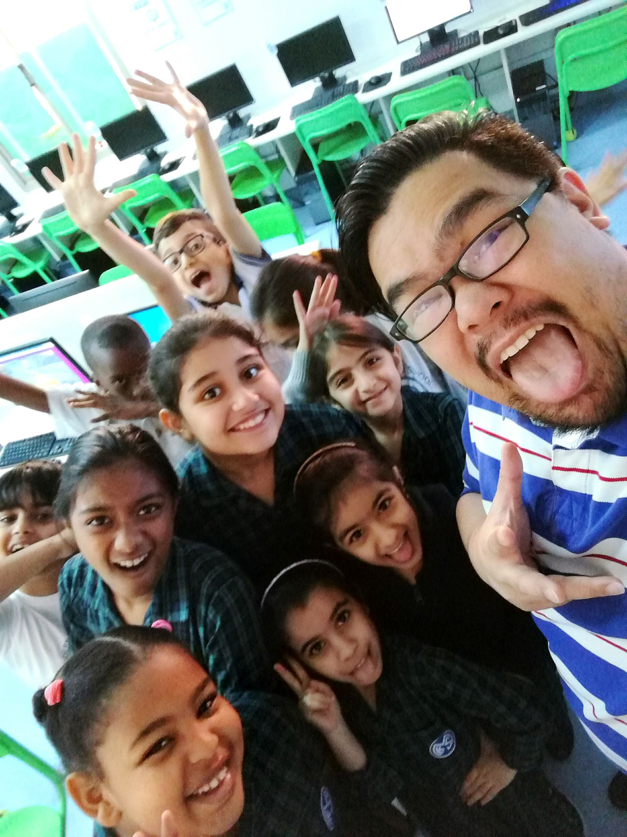 See you my beautiful and handsome students in 2017!! My Year My View Real People Selfie Groupfie Cheerful Smiling Fun Happiness Winter Break  Seeyousoon Mystudents LoveMyWork Teacherslife Bahrain