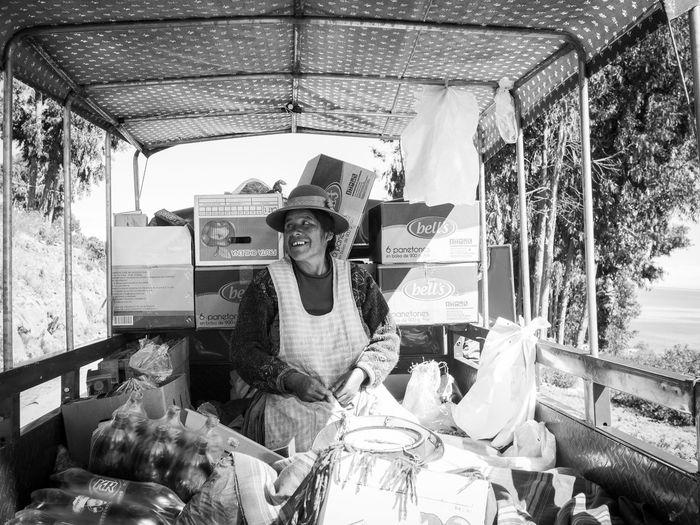 rolling market Peru Capachica Street Photography Monochrome