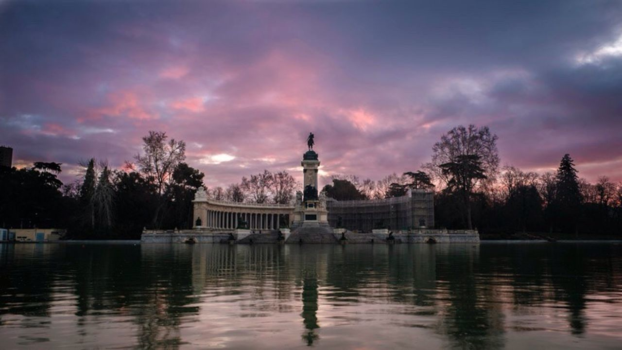 Madrid, spain Travel Destinations Sky Travel City Cloud - Sky Architecture Water Horizontal Parque Del Retiro