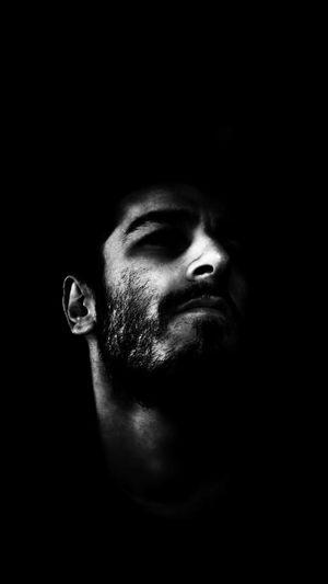Black And White Self Portrait Darkness