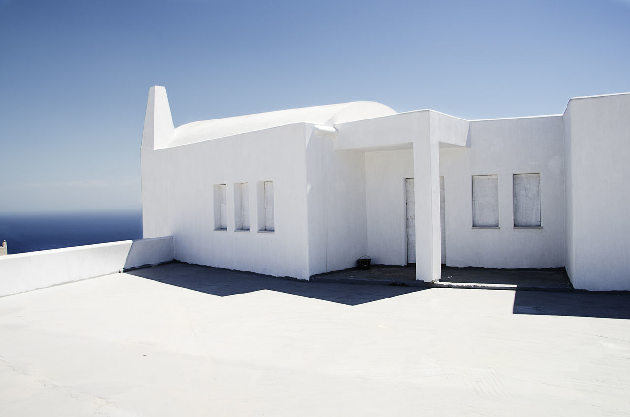 Built Structure Greece No People Santorini Island Sea Life Sea Views Strange House Travel Destinations White Color