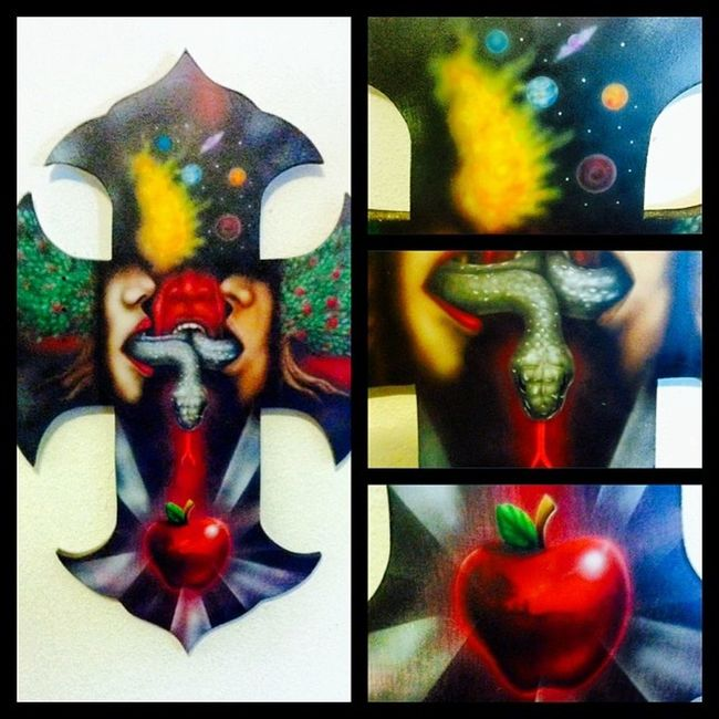 Broseph 's ArtWork . Selling theses Crosses for $100. All Airbrushed and super detailed work. madewithinstapicframesapp