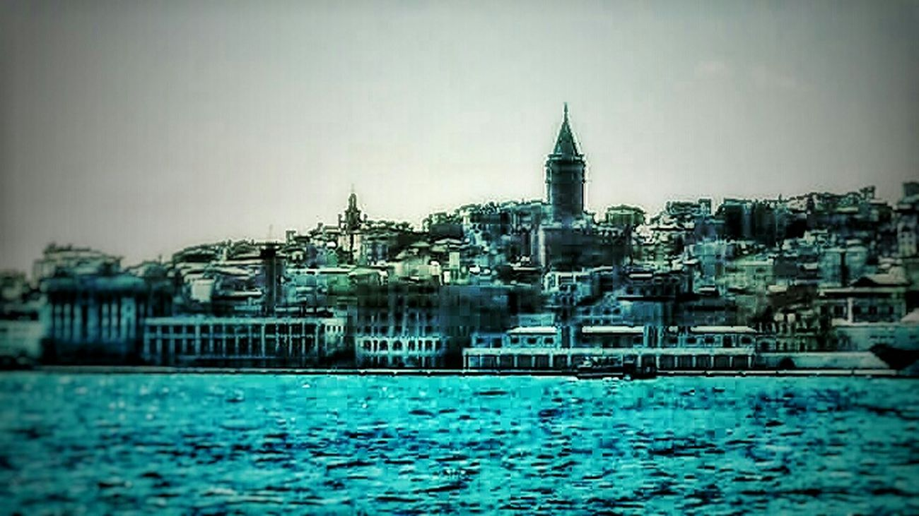 Sea And Sky Blue City Istanbul Turkey Galatatower Sehir Travel Photography Art