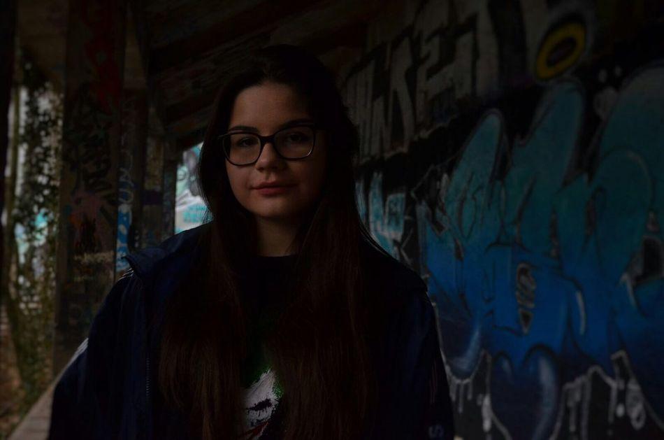 Lifestyles One Person Young Women Graffiti Multi Colored